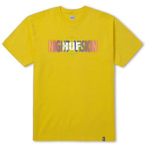 HUF Night Vision T shirt yellow
