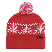 Load image into Gallery viewer, HUF Nordic Leaves red beanie