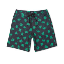 Load image into Gallery viewer, Huf Plantlife black/green board shorts