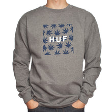 Load image into Gallery viewer, Huf Plantlife Box Logo grey heather crew