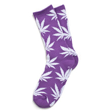 Load image into Gallery viewer, HUF Plantlife purple/white crew socks