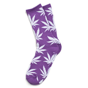 HUF Plantlife purple/white crew socks