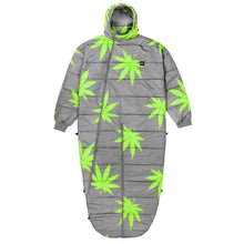 Load image into Gallery viewer, HUF Plantlife sleeping bag grey/lime