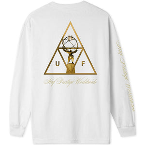 HUF Prestige Triple Triangle long sleeve T shirt white