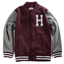 Load image into Gallery viewer, HUF Classic H Varsity burgundy jacket