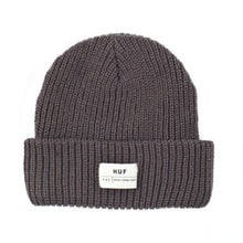 Load image into Gallery viewer, HUF Death From Above single fold charcoal beanie