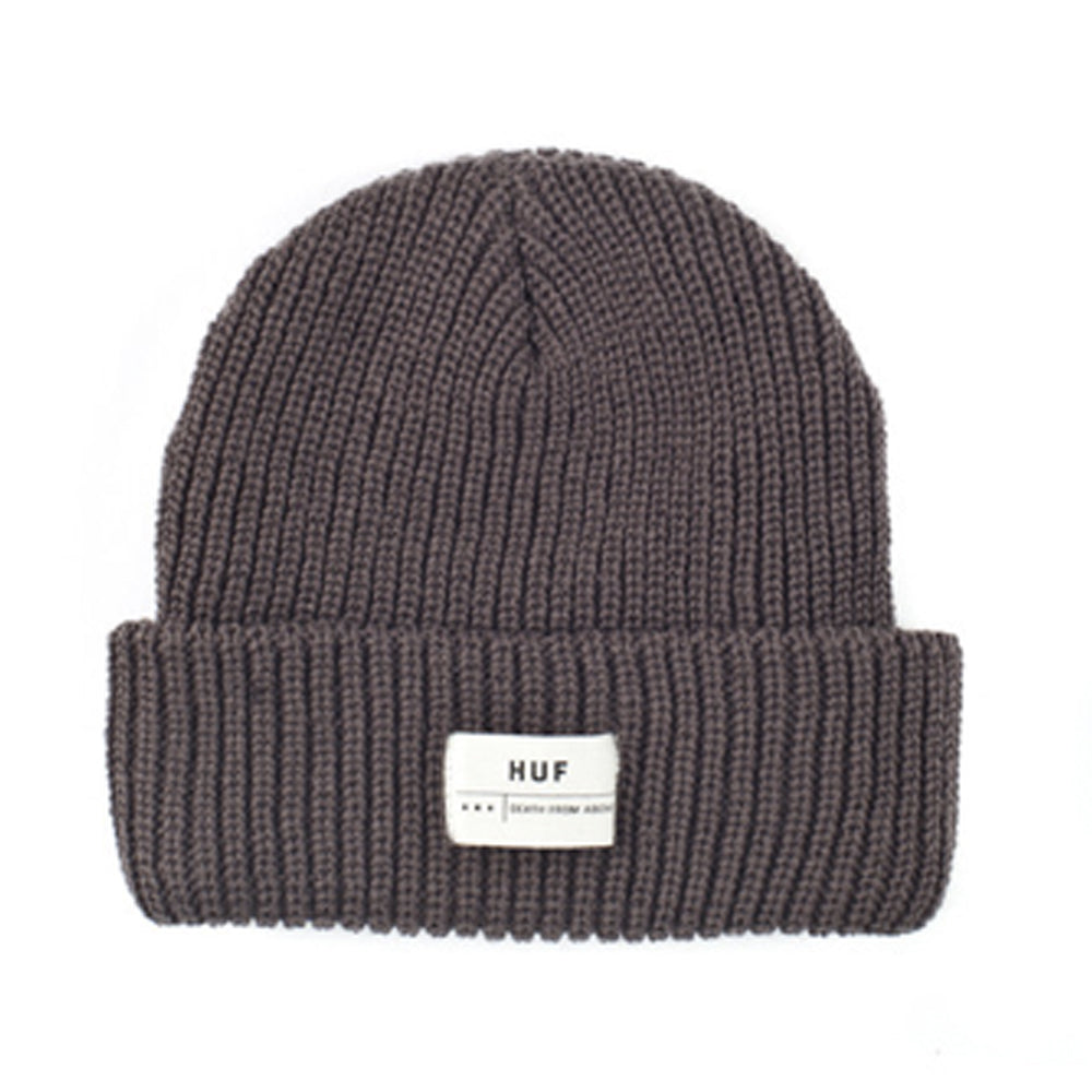 HUF Death From Above single fold charcoal beanie