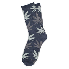 Load image into Gallery viewer, HUF Plantlife navy heather crew socks