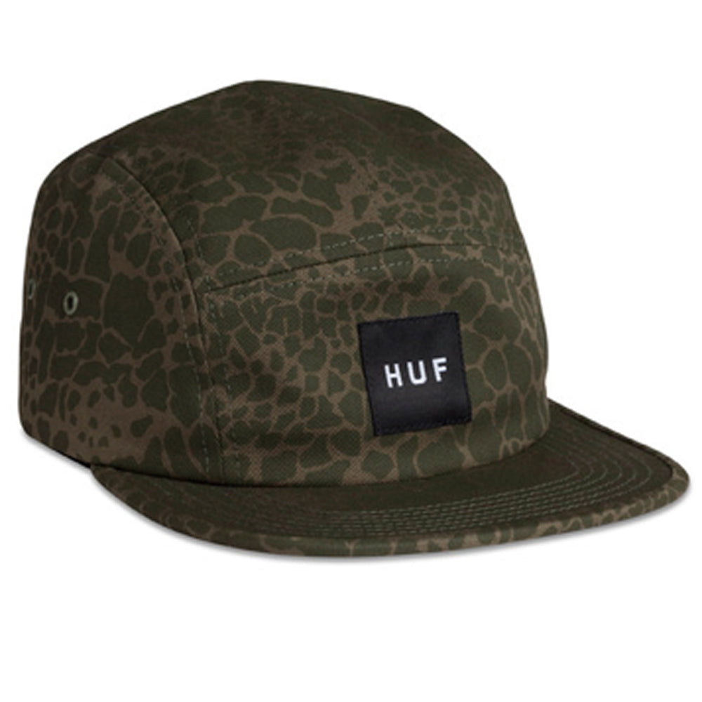 Huf Shell Shock Camo Volley olive 5 panel cap