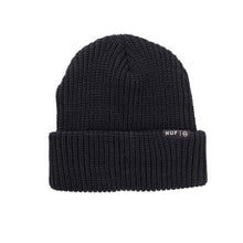 Load image into Gallery viewer, HUF Single Fold black beanie