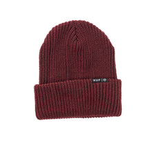 Load image into Gallery viewer, HUF Single Fold burgundy beanie