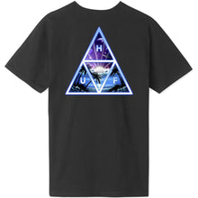 Load image into Gallery viewer, HUF Space Beach Triple Triangle T shirt black