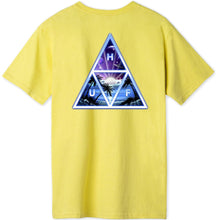 Load image into Gallery viewer, HUF Space Beach Triple Triangle T shirt yellow
