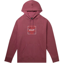 Load image into Gallery viewer, HUF Takeover pullover hoodie rose wood red