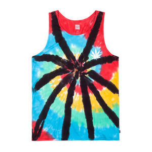 Huf Leaves Tie Dye black tank top vest