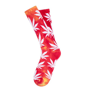 Huf Plantlife magenta/yellow tie dye socks