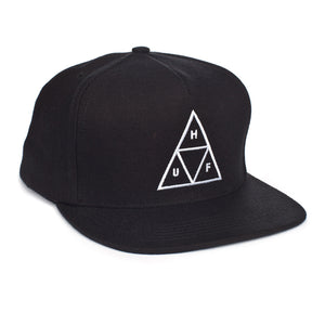 HUF Triangle black snapback cap