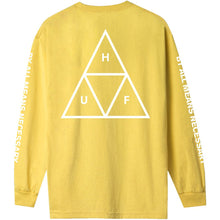 Load image into Gallery viewer, HUF Triple Triangle long sleeve Tee sauterne