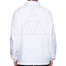 Load image into Gallery viewer, HUF Triple Triangle white coach's jacket