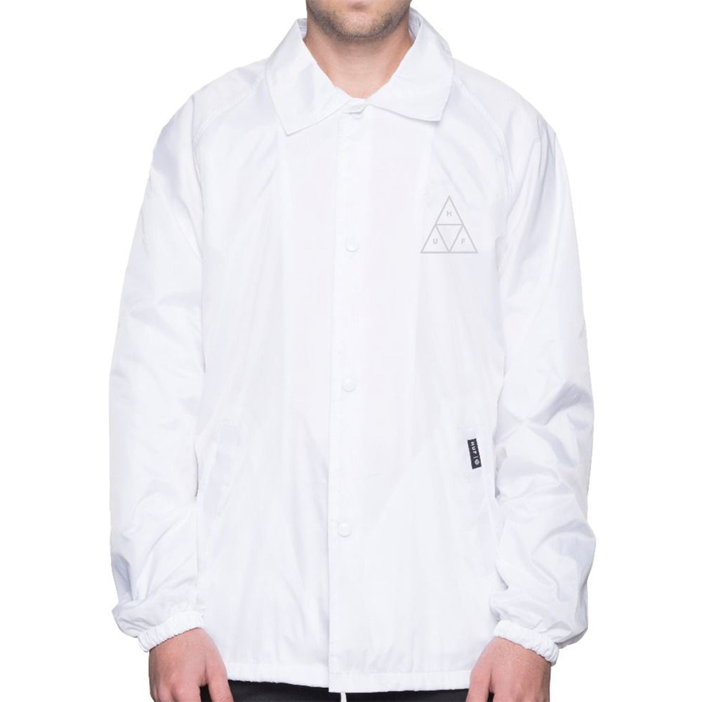 HUF Triple Triangle white coach's jacket