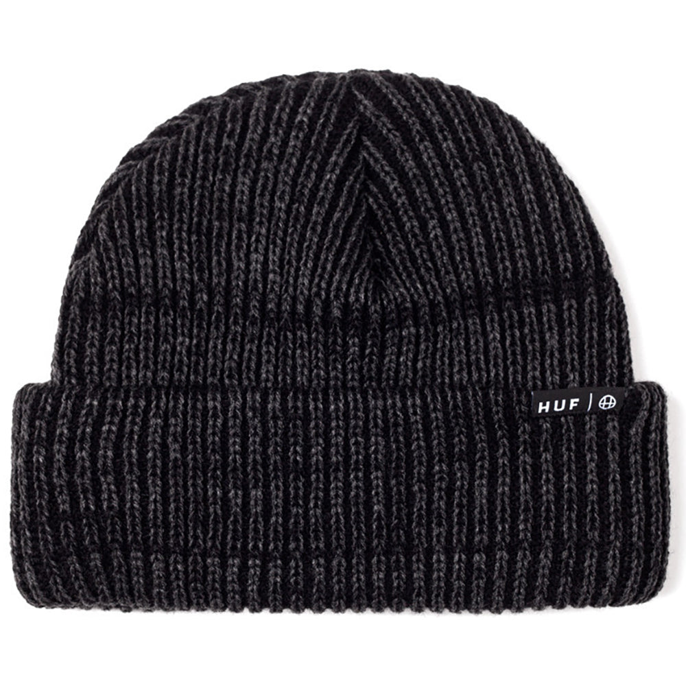HUF Usual black heather beanie hat