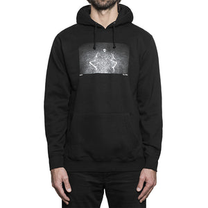 HUF x Dennis McGrath Skeleton black hood