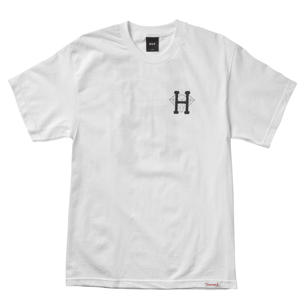 HUF x Diamond Classic H white T shirt
