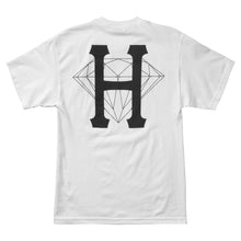 Load image into Gallery viewer, HUF x Diamond Classic H white T shirt