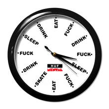 Load image into Gallery viewer, HUF Mental Sleep, Fuck, Eat black clock