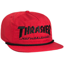 Load image into Gallery viewer, HUF x Thrasher Collab Logo red snapback cap