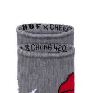 HUF x Cheech & Chong 420 grey socks