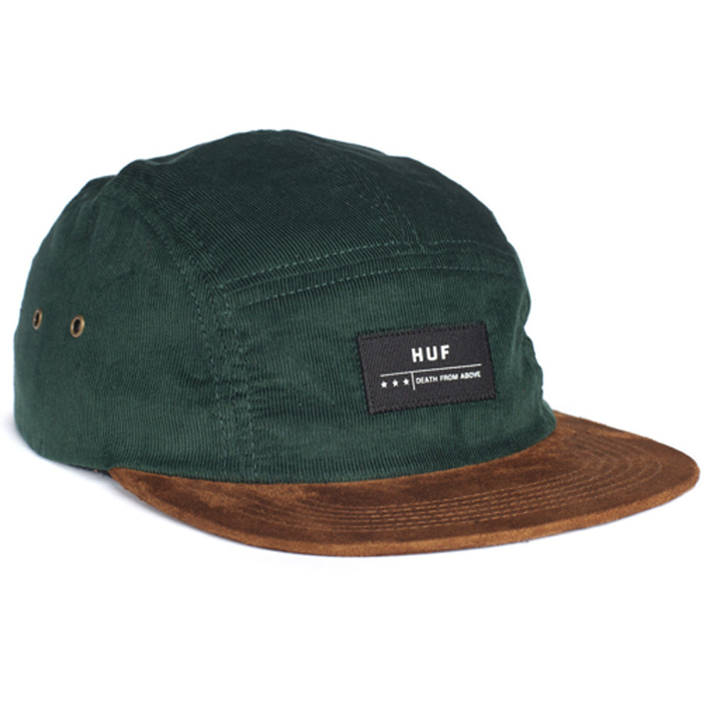 HUF Death From Above ivy green cord 5 panel cap