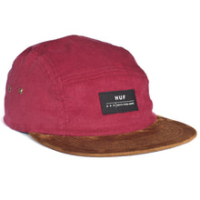 Load image into Gallery viewer, HUF Death From Above ruby cord 5 panel cap