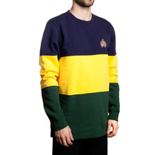 Load image into Gallery viewer, Huf Crested Block navy/yellow/green crew