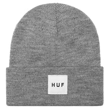 Load image into Gallery viewer, HUF Box Logo grey heather beanie hat