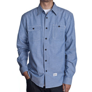 Huf Marshall Chambray navy L/S shirt