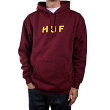 Load image into Gallery viewer, HUF OG Logo maroon hood