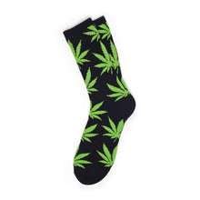 Load image into Gallery viewer, HUF Plantlife black/lime crew socks