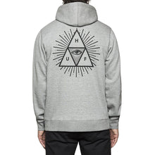 Load image into Gallery viewer, HUF Third Eye Triangle grey hood