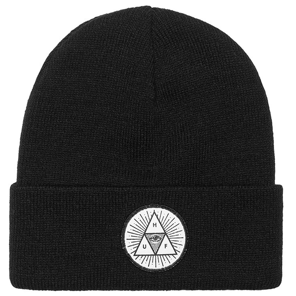 HUF Triple Eye black beanie hat