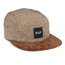 Load image into Gallery viewer, HUF Tweed Taupe volley 5 panel cap