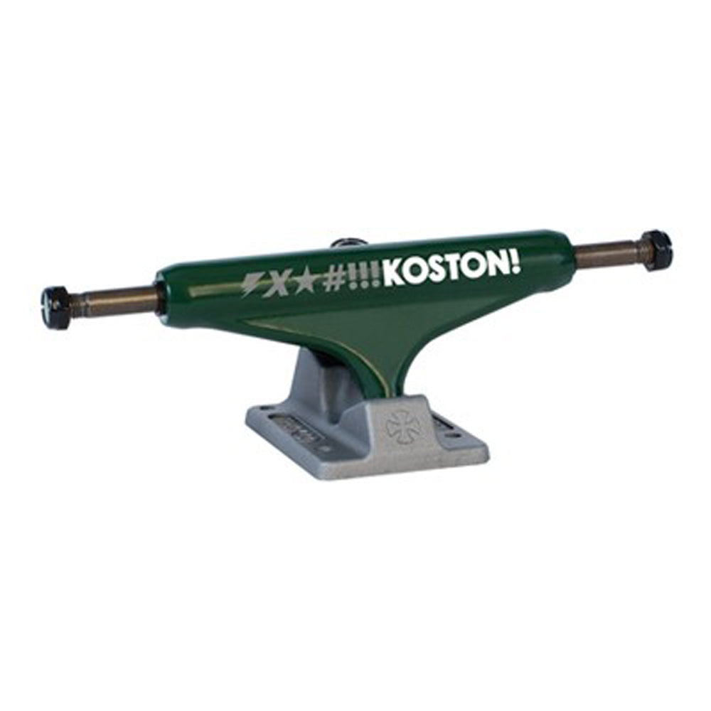 Independent Koston army green 129 Stage 10 Low trucks
