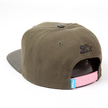 Load image into Gallery viewer, King Apparel Fuchsia Hi Starter Green Snapback Cap