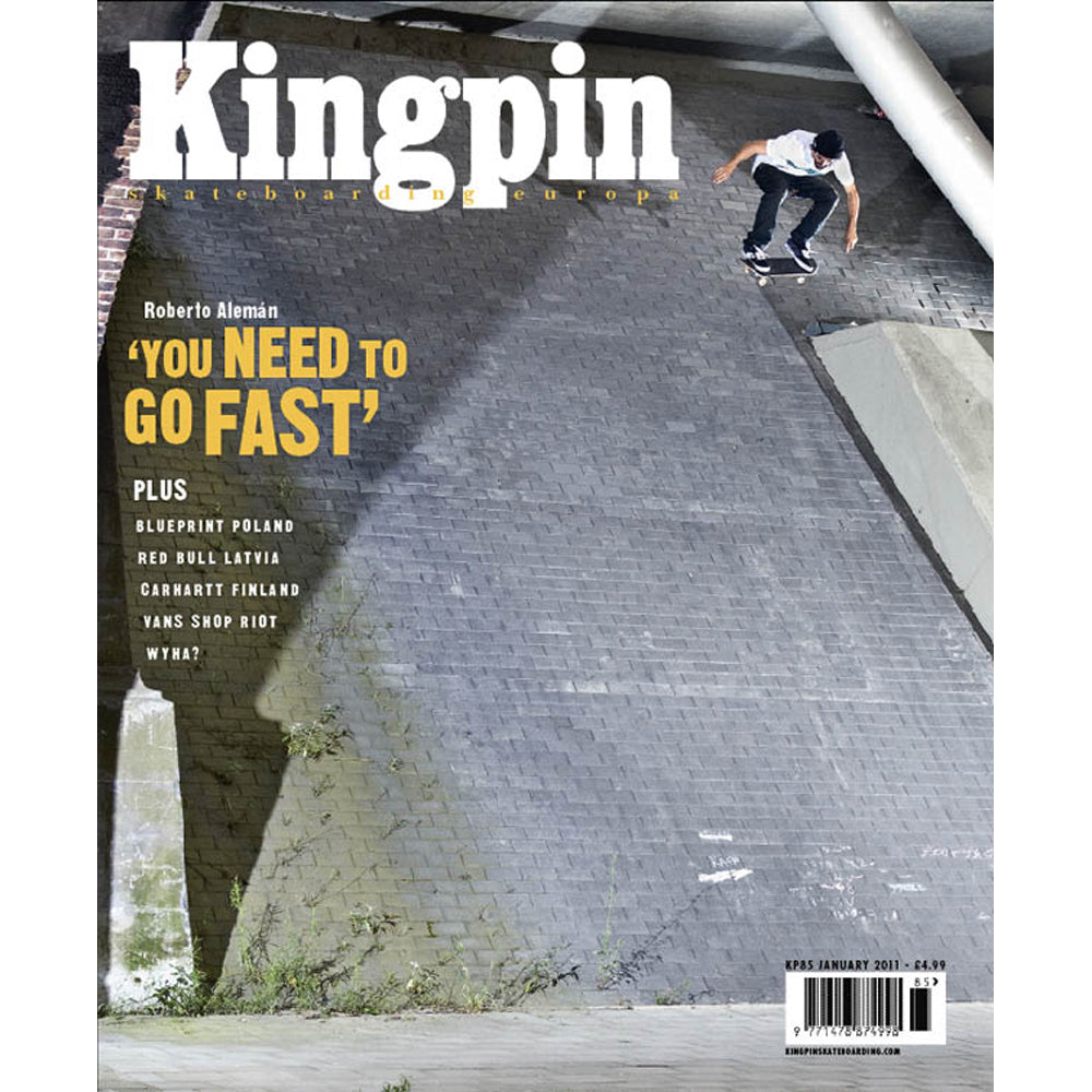 Kingpin magazine January 2011 issue 85 with DC Lace 'em Up Tour DVD