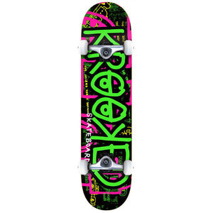 Krooked Katonik large green complete skateboard
