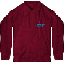 Load image into Gallery viewer, Krooked Lunar Lurker Maroon Coach Jacket