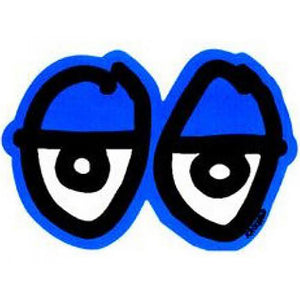 Krooked Eyes Sticker blue Large