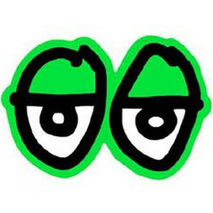 Krooked Eyes Sticker green Medium