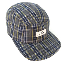 Load image into Gallery viewer, Lakai Flare grey/navy/yellow plaid camper 5 panel cap