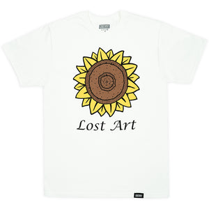 Lost Art Mark's Sunflower Tee white